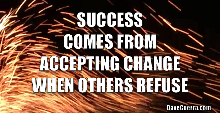 Success comes from accepting change