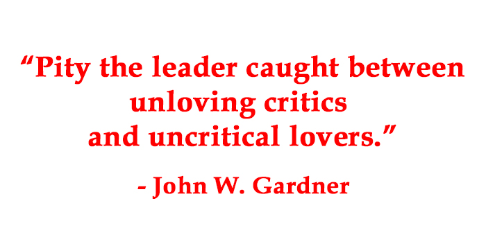 John W Gardner quote as seen on Dave Guerra dot com