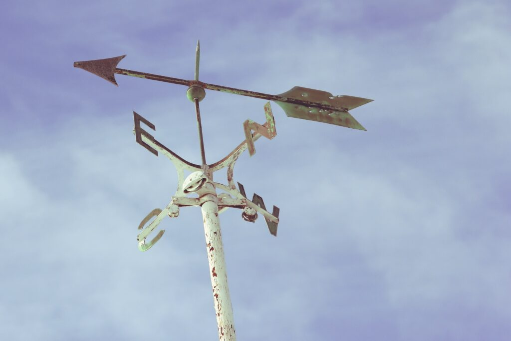 weather vane in the wind